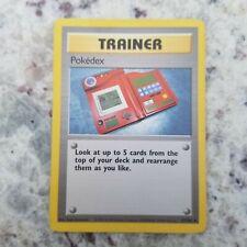 Pokemon POKEDEX Trainer card. BASE SET. ULTRA RARE. Pokemon Card SHADOWLESS R23
