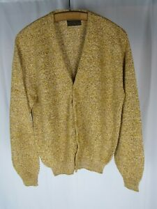 Vtg 1960s Sears Cardigan Sweater Heather Fleck Hollywood Mod Kurt Cobain 60s NOS
