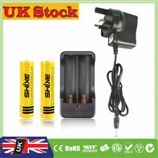 2x 18650 Battery and Charger Apply to Headlight with Flashlight 4200mAh UK-61C