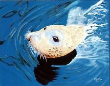 "Sea =""SEALION""  ORIGINIAL OIL PAINTING BY ORPHIE BARELLA"