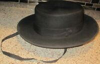 Pinho Costa & Co. ~ Black Wool Felt Hat with Band ~ Made in Portugal