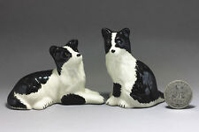 Border Collie Miniature Ceramic Animals Figurine,Collectibles,terrarium dogs