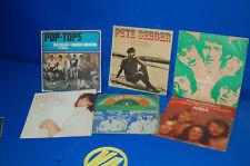 Lot de 6 EPS vinyles singles discontinué ABBA - PETE SEEGER-POP HAUTS