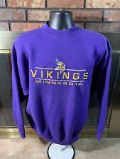 Vintage MINNESOTA VIKINGS NFL FOOTBALL Crewneck Sweatshirt Mens Sz Large Purple