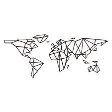 Geometric World Map Vinyl Decals Stickers Walls Art Decor