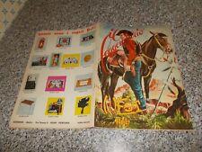 ALBUM IL LEGGENDARIO WEST ED.RELI 1973 CON 38 FIGURINE ADESIVE ORIGINALE OTTIMO