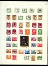 Hungary Album Page Of Stamps #V4922