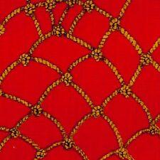 Rope & Knots on Red B/G-Kanvas Studio-Fishing-Net-Ropes-Buried Treasure Col.