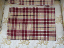New listing Set of 6 Red Beige Placemats