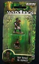 Wardlings Boy Rogue & Monkey Dungeons & Dragons D&D Miniature Minis