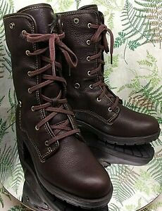 CLARK BROWN LEATHER MID CALF WATERPROOF WINTER SNOW BOOTS SHOES WOMENS SZ 10 M