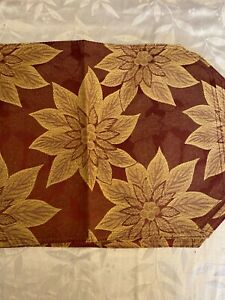 Regular Living quarters 13''x 19'' placement Red Flower square