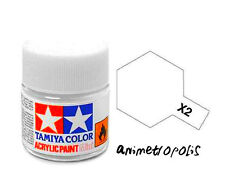 TAMIYA COLOR X-2 White MODEL KIT ACRYLIC PAINT 10ml Free Shipping New