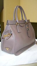 $3,100 Prada Gray/Gold Calfskin Framed Gray NWB ABSOLUTELY GORGEOUS!