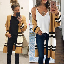 Women Fall Loose Sweater Long Sleeve Knitted Cardigan Outwear Jacket Coat USA
