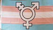Trans Symbol 5ft x 3ft Flag Gay LGBT LGBTQ Party Festival Flag Pride bn