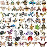 Fashion Crystal Pearl Animal Dragonfly Butterfly Cat Brooch Pin Wedding Bridal