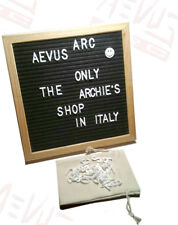 lavagna in feltro lettere componibili 25 x 25 cm