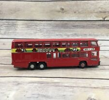 Vintage Yonezawa Toys 1/60 Red Double Bus Middle Diecast JAPAN