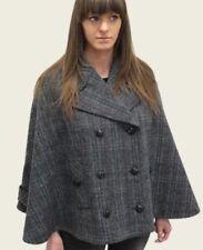 Cappotti e giacche da donna in lana grigia con doppiopetto