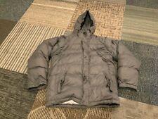 Calvin Klein Mens Medium Down Filled Puffer Parka Jacket Hooded Gray