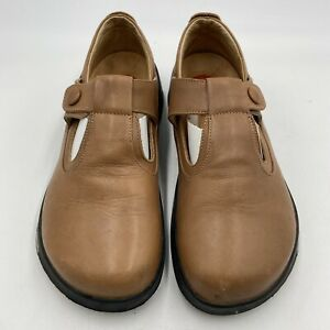Footprints By Birkenstock Women's Leather Mary Jane Shoes Size 37 US 6-6.5 Brown