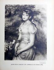 Pierre Auguste Renoir Heliogravure Limited Jeune Fille Portrait Corbeille 1921