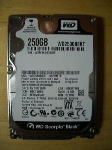 WD WESTERN DIGITAL 2,5 HDD 250 GB SCORPIO BLACK WD2500BEKT DISCO DURO HD SATA