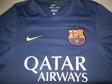 Nike FCB Barcelona Spain Soccer Jersey Blue Shirt Training Athletic Mens Small S