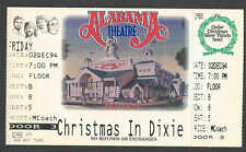 1994* CHRISTMAS IN DIXIE AT ALABAMA THEATRE UNUSED TICKET