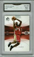 2004 Lebron James SP Authentic 2nd Year Card Gem Mint 10 #14