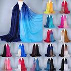 Glitter Women Long Voile Scarf Soft Gradient Style Pashmina Wrap Shawl Stole