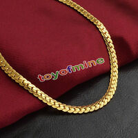 5MM 18K Women & Men Fashion Gold Plated Necklace Chain Jewelry