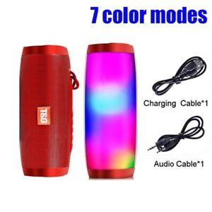 USA LED Light Bluetooth Speaker Wireless Waterproof Outdoor Stereo Bass USBTFFM