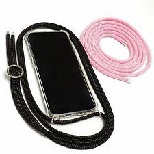 Set Handykette mit Hülle & Wechselband Handytasche Silber Black & Rose Pink