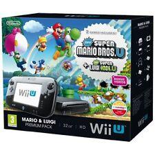 Nintendo Wii U Black Premium Pack 32GB New Super Mario Brosu New Super Luigi 1Z