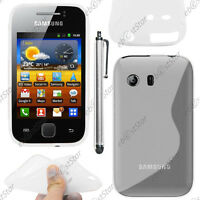 Housse Etui Coque Silicone S-line Transparent Samsung Galaxy Y S5360 + Stylet