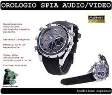 OROLOGIO MICRO SPIA MICROCAMERA CON TELECAMERA MICROSPIA CAMERA NASCOSTA HD SPY