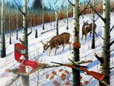 Popple Ridge Tree Stand Deer Hunting Print By Les Kouba Signed and Numbered