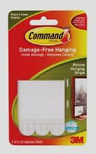 3M Command Picture Hanging Strips Fasteners 3 Sets Medium Holds 3 lbs 17201-ES