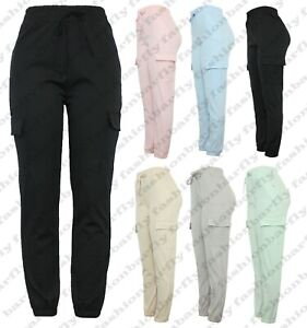 Ladies New Cargo Combat Stretch Casual Trousers Womens Slim Fit Sport Jogger