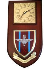 10th bn Parachute Regiment Military Shield Wall Plaque Clock
