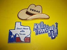 Vintage Texas refrigerator magnets