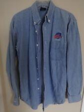 Euc 1991 Myrtle Beach Planet Hollywood Sewn Logos Long Sleeve Denim Shirt Men L