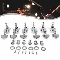 6 Stk Mechaniken Gitarren Locking Tuners Stimmwirbel Tasten Links Rechts