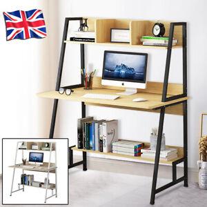Home Office Computer Desk with Shelves Desktop PC Table Study Workstation Corner