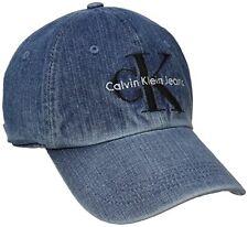 Calvin Klein Jeans Men's Denim Reissue Logo Baseball Dad Hat Stone Wash