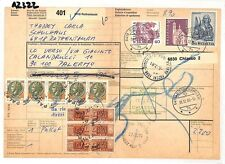 AZ322 1981 Switzerland HIGH VALUES Rothenturm *Insured Mail* Card Italy PTS