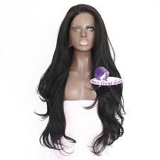 "14"" Schwarz Perücke Lace Front Wig Cosplay Sedige Glatze wie Echt Haar mit Kapp"