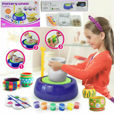 Kids Electric Pottery Wheel Ceramic Machine DIY Ceramic Art Tool Clay Making Toy